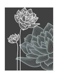 Vector Flowers over Black Background' Art Print - Danussa | Art.com | Hand  art drawing, Etsy art prints, Black background painting