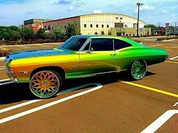 El Dog Caddy Big Rims Custom Paint Pinterest Cadillac
