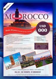 Morocco Travel Flyer Psd Template Design Psd Templates