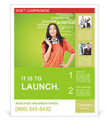 education poster templates young female student standing and thinking what profession to choose