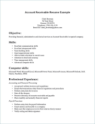 Accounts Receivable Resume Unique Excellent Cv Examples Igreba Com