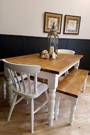 new handmade 5ft pine farmhouse table two benches and two chairs
