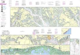 Details About Noaa Nautical Chart 11518 Intracoastal Waterway Casino Creek To Beafort River