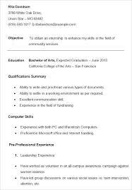 Student Resumes Extraordinary A Sample Resume For A College Student Resume Samples For College