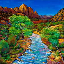 national parks painting zion by johnathan harris