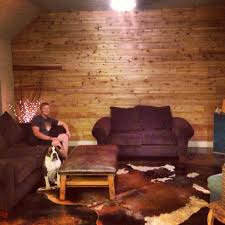 Small Picture Cedar planked wall with stained concrete i dont know this person