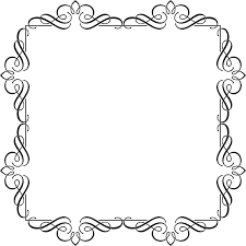 line art picture frames ornament background 179 black and white