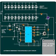emergency rechargeable light circuit diagram image