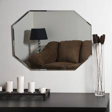 frameless beveled mirror. Decor Wonderland Frameless Octagon Beveled Mirror