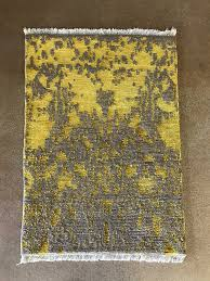 contemporary rug yellow gray overview