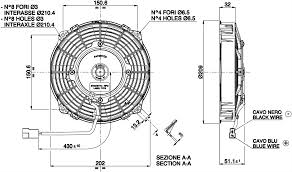 spal radiator fan 7 5 190mm push va14 ap11 c 34s 407cfm