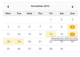 Jquery Ajax Enabled Month Calendar Plugin With Bootstrap Zabuto