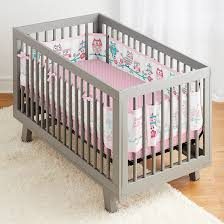 3pc owl fun pink classic crib bedding set