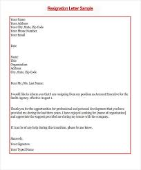 Job Resignation Letter Sample Template Interesting New Job Resignation Letter Template 28 Free Word PDF Format