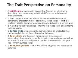 essays on personality traits