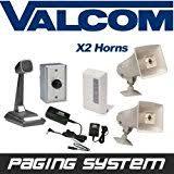 amazon com new valcom business warehouse industrial paging horn Valcom Paging Horn Wiring Diagram valcom 2 horn speaker paging pa system kit (industrial grade) ValCom V-1030C Wiring