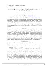 quasi ytical design of a square helmholtz coil with finite cross sectional area as a magnetic flux density standard pdf available