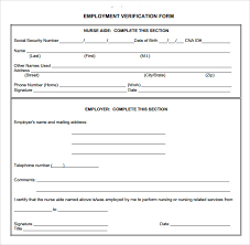 9 Employment Verification Form Download For Free Sample Templates