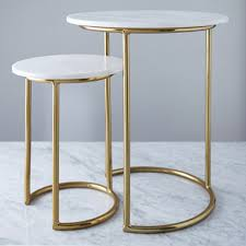 white helen james considered marble top table