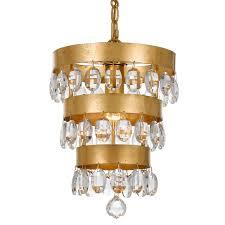 bellacor number 1767080 crystorama lighting group perla antique gold one light mini chandelier