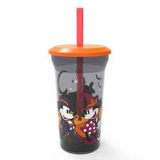 Zak Designs Straws Halloween 14oz Mickey Mouse Halloween Tumbler With Straw