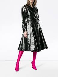 women coats good feeling women calvin klein 205w39nyc vinyl trench coat black black