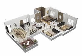 3d Room Layout Beautiful Design Ideas 25 More 3 Bedroom 3D Floor Plans.