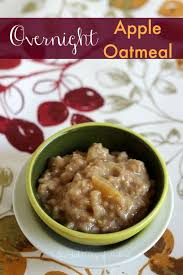 overnight apple oatmeal in the slow