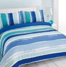 duvet cover with pillowcase portobello stripe blue green