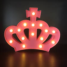 Online Shop 3D Crown Night Light Warm White Shine LED Night Lamp ...