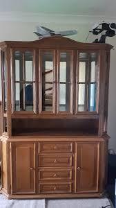 oak wall unit led lights glass door display cabinet glass shelf