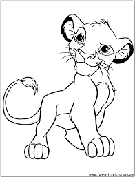 Small Picture Awesome Simba Coloring Pages 95 With Additional Line Drawings with