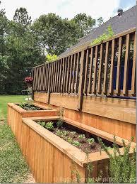 a backyard makeover with raised garden