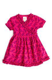 Peek 'Cristina' Bird Print Wrap Dress (Baby Girls) | Nordstrom