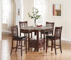 glass round counter height table sets table designs