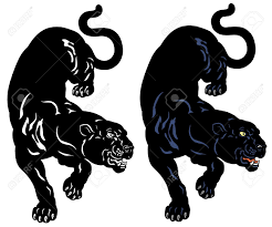 Black Panther Tattoo Illustration Isolated On White Background