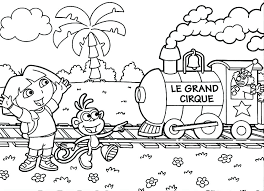Dora The Explorer Printable Coloring Pages At Getdrawingscom Free