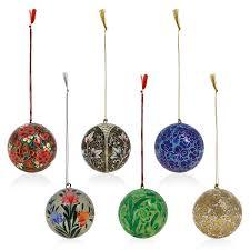 Amazon.com: Handmade Paper Mache Hanging Balls Decorations Christmas  Ornaments 3 Inch Set of 6: Home & Kitchen