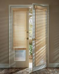 french door blinds wood