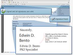 How To Do A Signature How Do You Sign An Adobe Pdf In Adobe Acrobat X Quovadis Customer