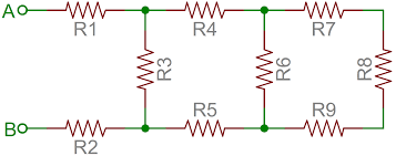 resistors learn sparkfun com an example of a resistor network
