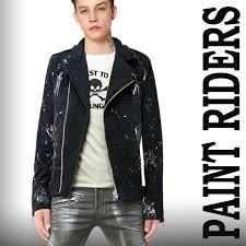 jellybeans select riders black denim black denim paint plus g jean denim jacket rock fashion rock fashion デニムライ sanders punk fashion men s