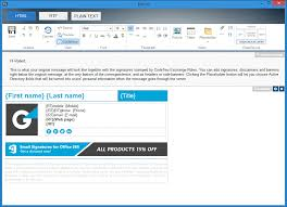 Email Signature Html Easy To Use Html Editor