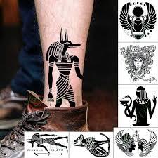 Waterproof Temporary Tattoo Sticker Egypt Anubis Jackal Tatto