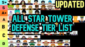 Remember, just because a tower is a 3/4/5 star doesn't mean its good, this only applies to 4 stars because some are only used for upgrades or evolutions, examples are namu. All Star Tower Defense Tier List New List Roblox Youtube