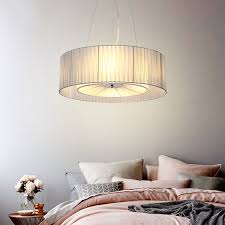 hanging lamps for bedroom modern pendant light round for bedroom living room fabric lamp shade