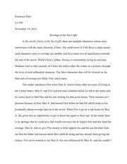 purple hibiscus essay johnson professor pratt literature  4 pages lit essay 3