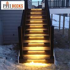 outdoor stairs lighting. odyssey led strip light aurora deck lighting decksdirect regarding step lights outdoor stairs