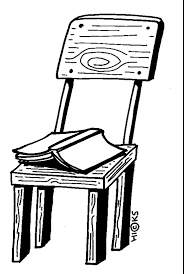 chair clipart black and white. open book on chair clipart black and white a