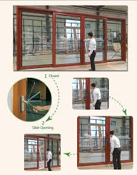 aluminum gliding door double glazed